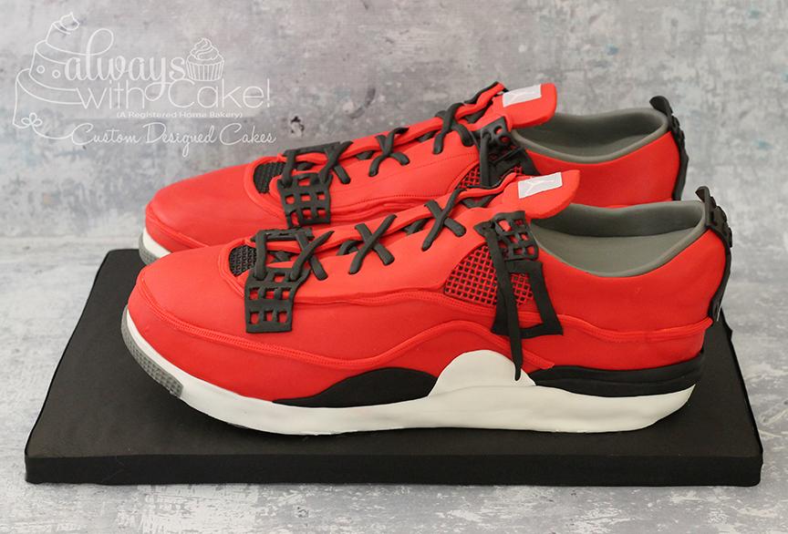 Retro Air Jordan Tennis Shoes Birthday Cake