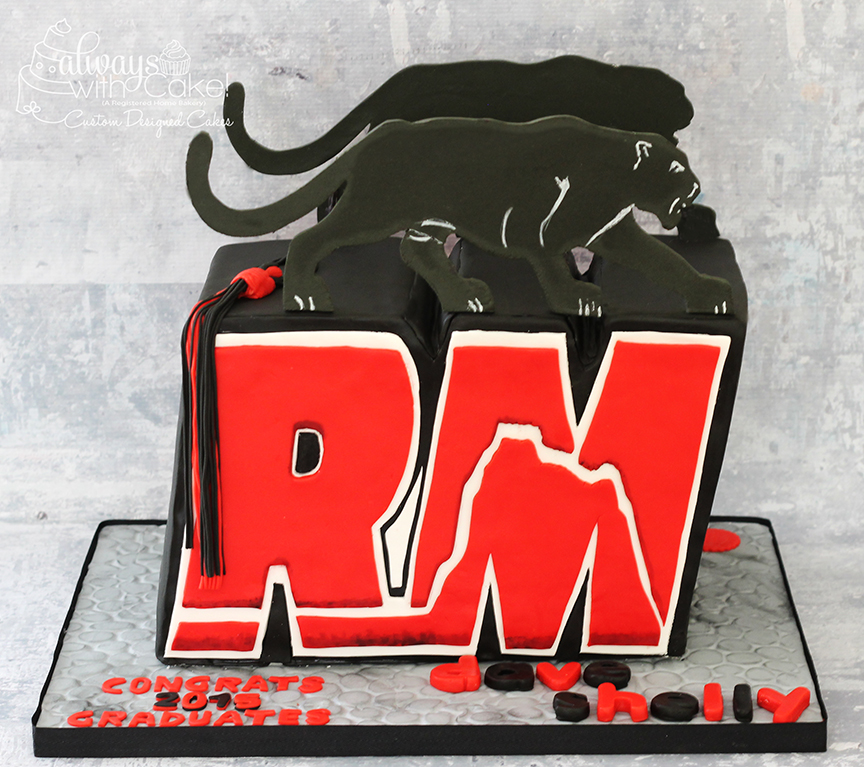Red Mountain High School Logo Grad Cake