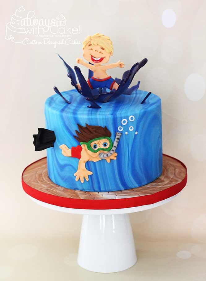 Swimming Splash Cake