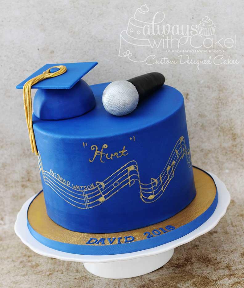 Music Gradution Cake