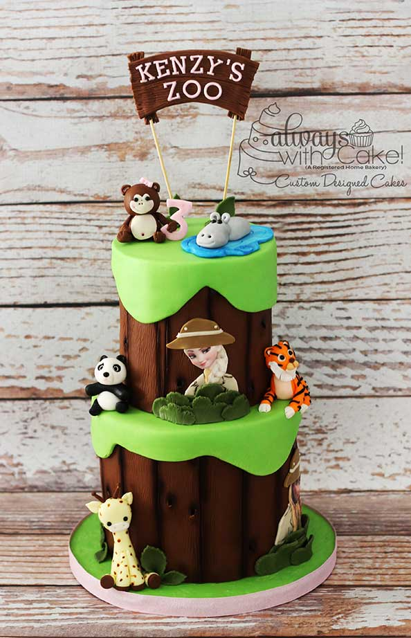 Frozen/Zoo Cake