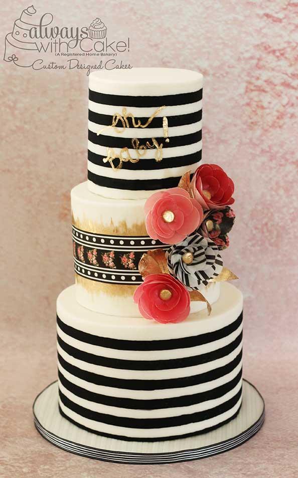 Kate Spade Inspired Baby Shower Cake