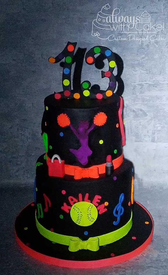 Neon (Glow in the Dark) Cake
