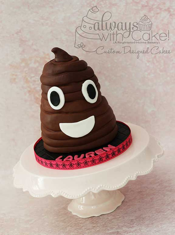 Poop Emoji Cake