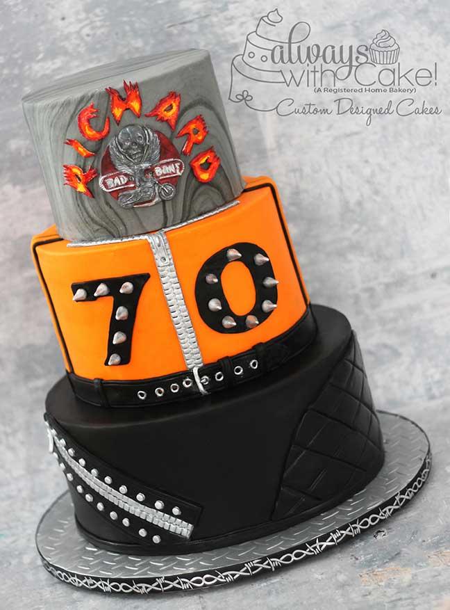 "Harley Davidson ""Bad to the Bone"" Cake"
