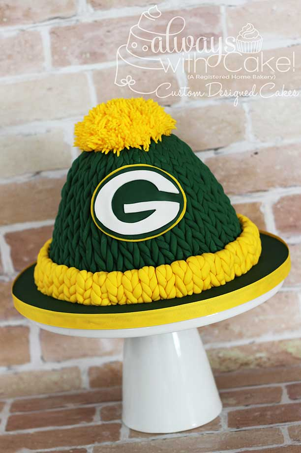 Green Bay Packers Knit Hat Cake