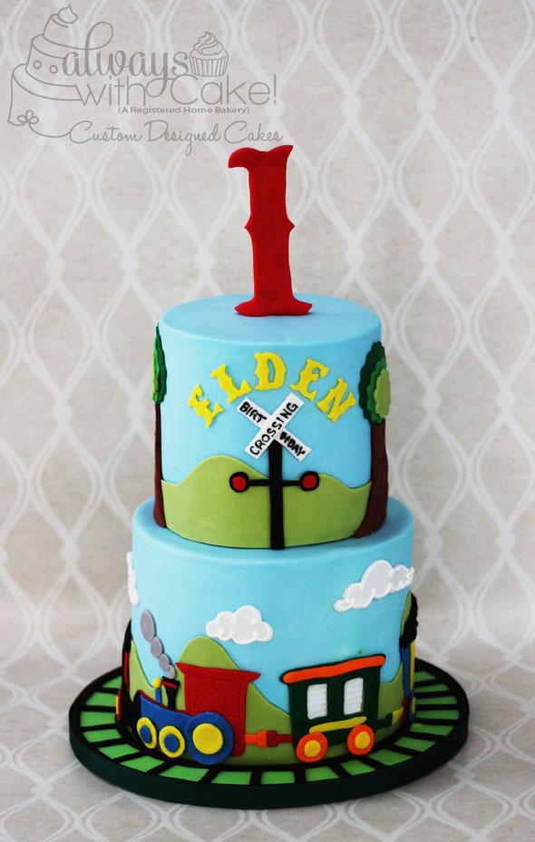 Train 1st Birthday Cake