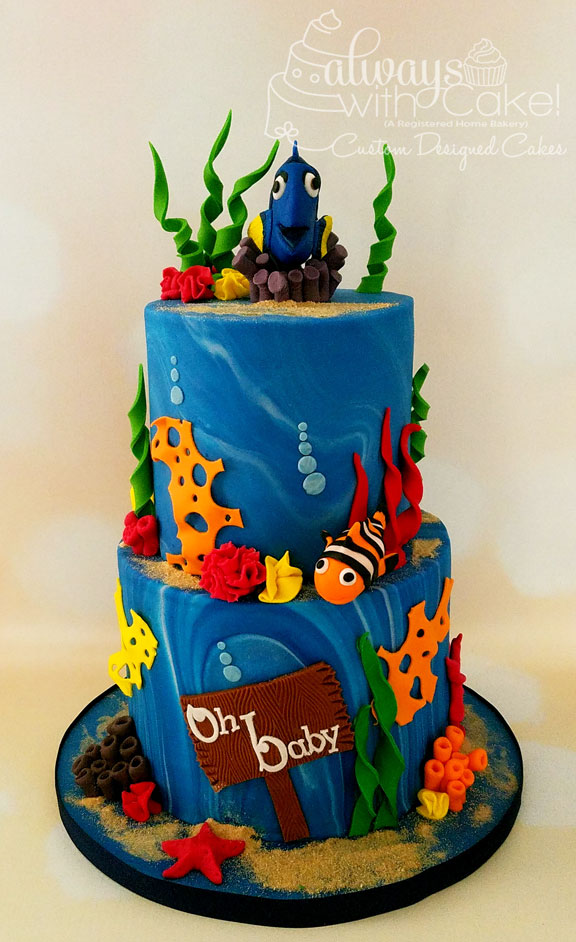 Finding Dory Baby Shower Cake