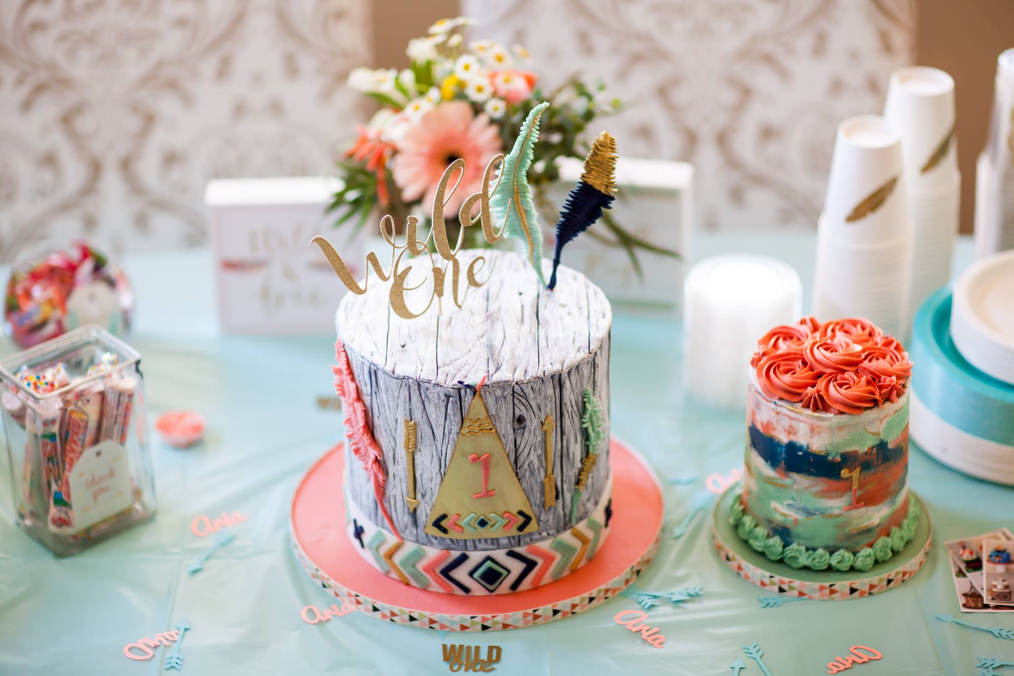 Bohemian Cake.  (Photo Credits to Marianeoverton Photography)