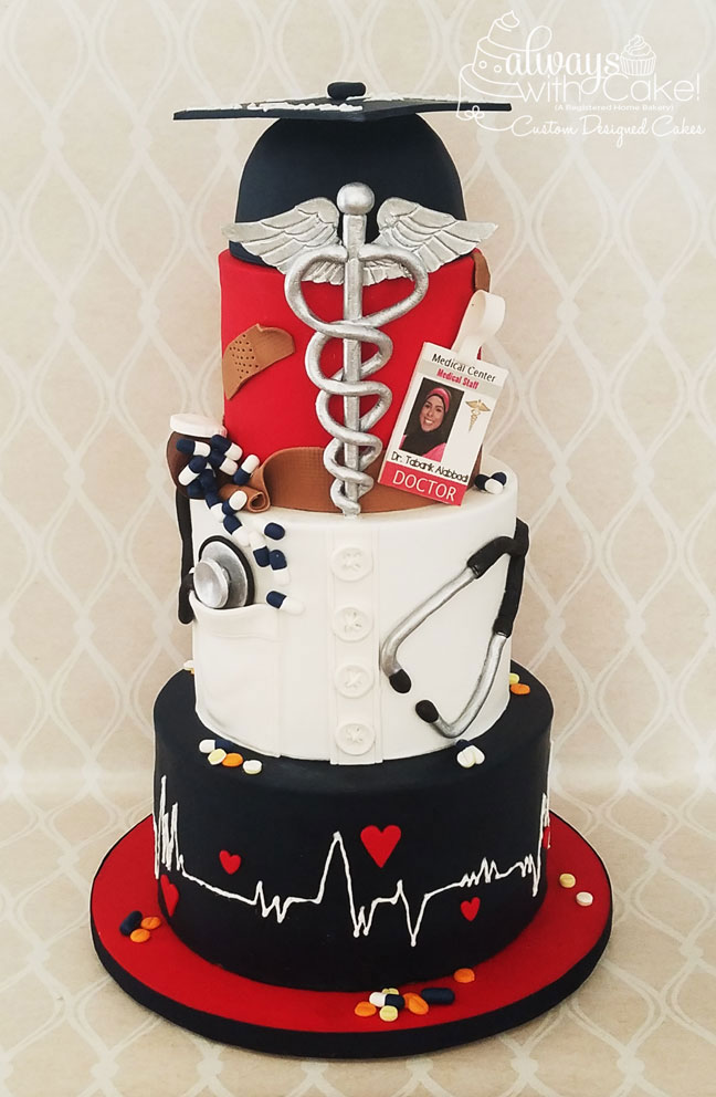 Doctor Grad Cake