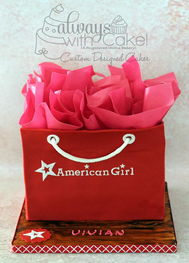 American Girl Bag Cake