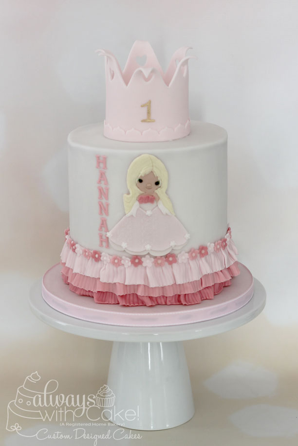 Princess 1st Birthday Cake