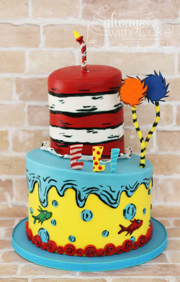 Dr. Seuss 1st Birthday Cake