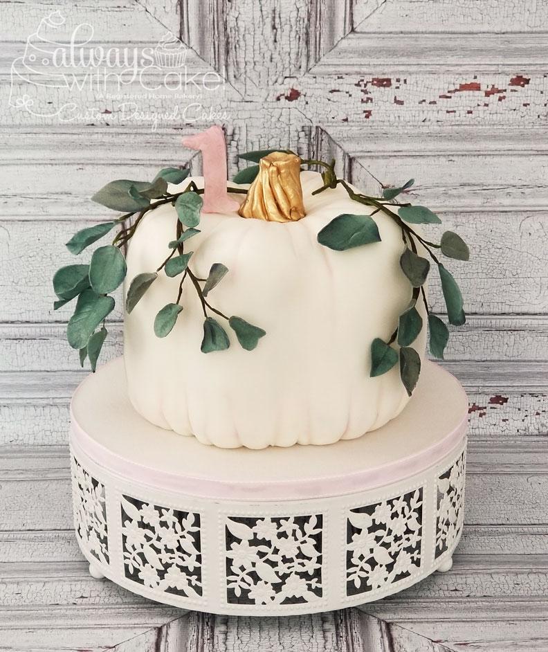 Pumpkin 1st Birthday Cake