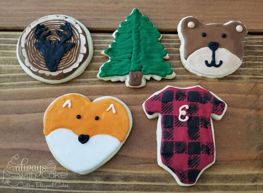 Lumber Jack Themed Cookies