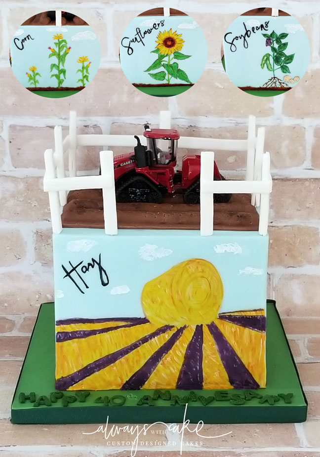 Farm Anniversary Cake