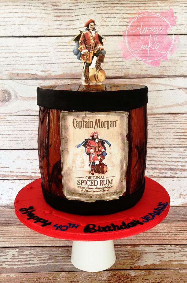 Captain Morgan Rum Barrel Cake