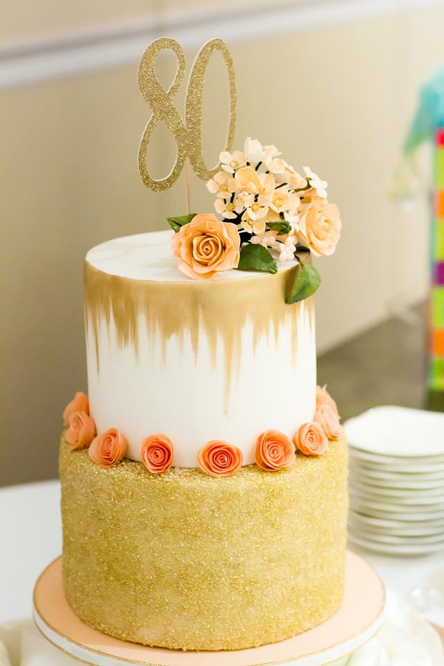 80th Birthday Cake (Photo by Marianne Overton Photography)