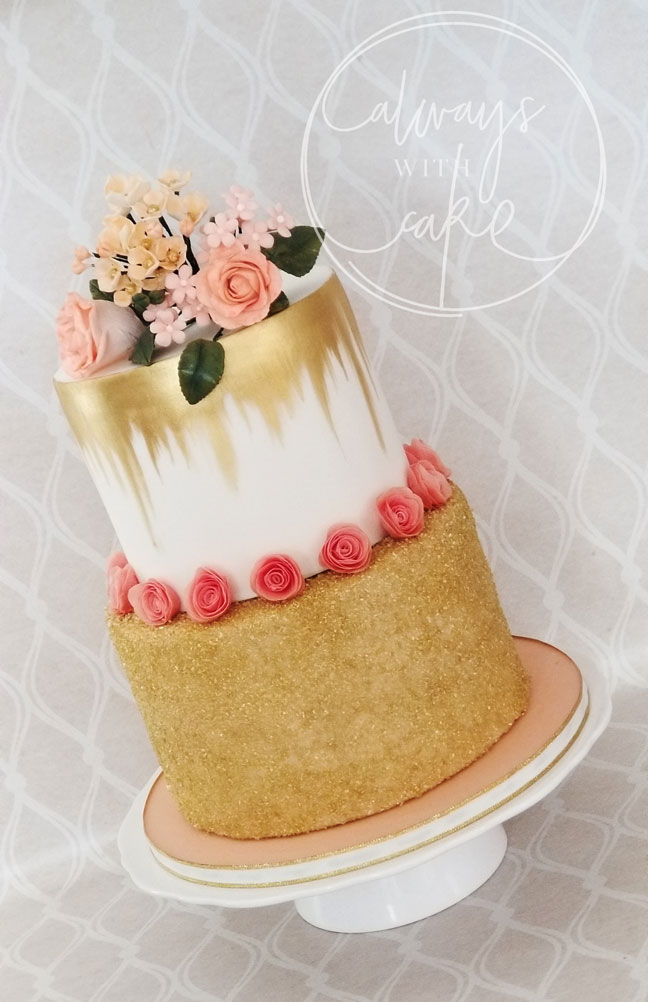 Gold and Peach Cake