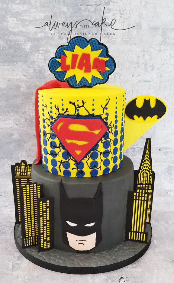Batman & Superman Cake