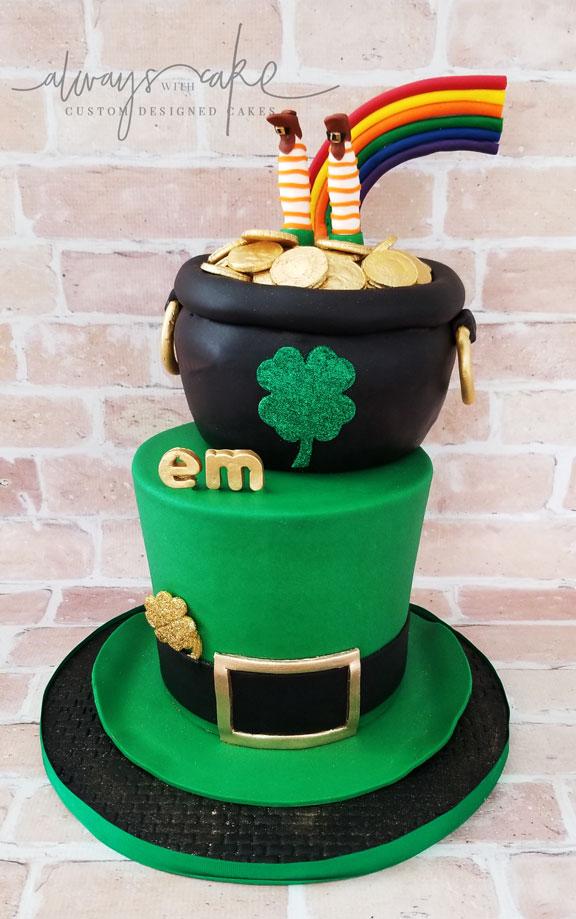 St. Patrick's Day Birthday Cake