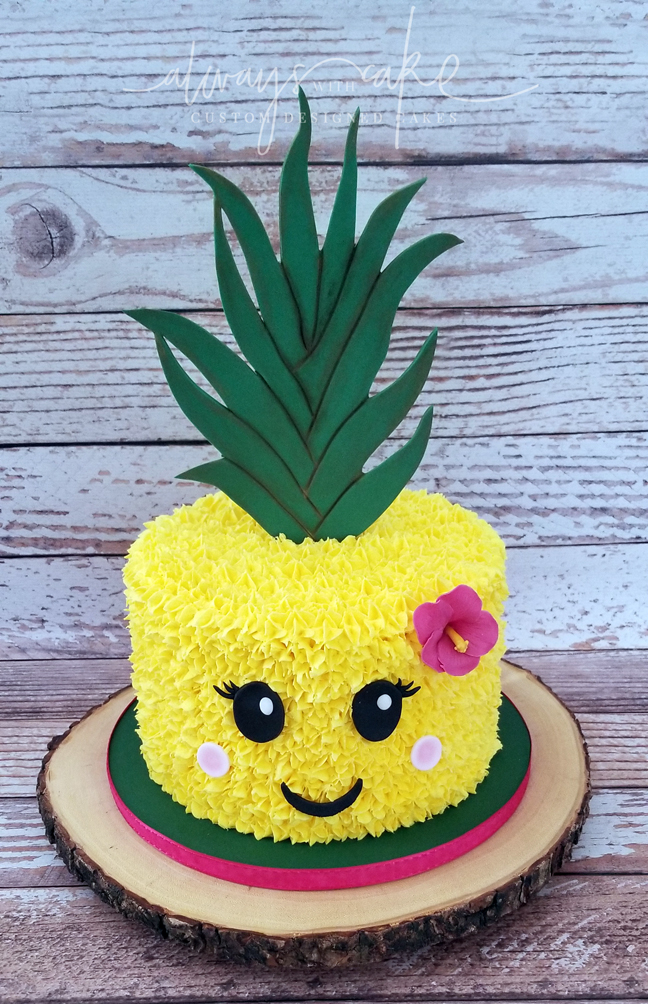 Hawaiian Pineapple themed cake