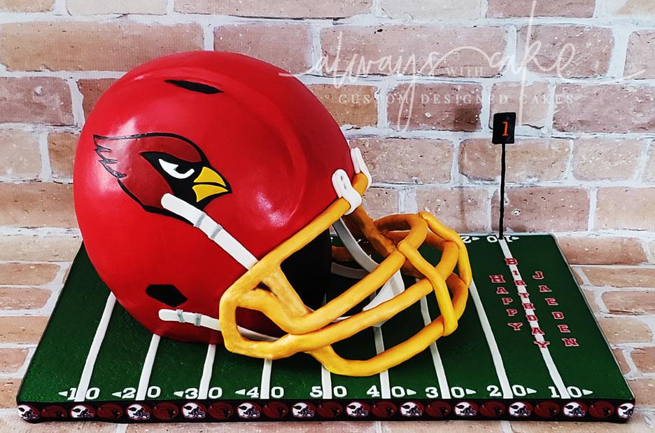 Arizona Cardinals Football Helmet Cake