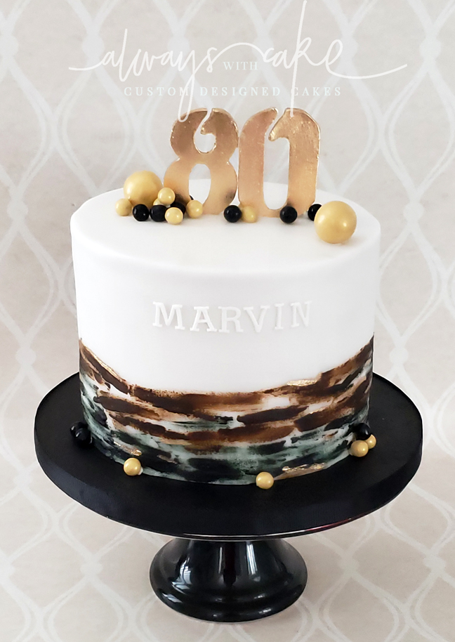80th Birthday Cake (Male)