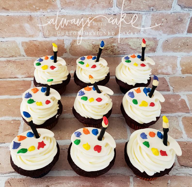 Paint Palette Cupcakes