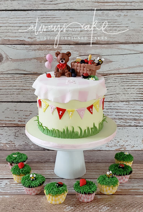 Teddy Bear Picnic Cupcakes and Cake