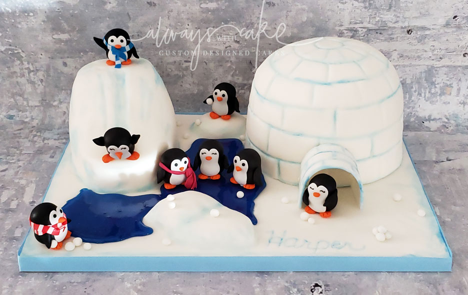 Penguin Play Time Cake