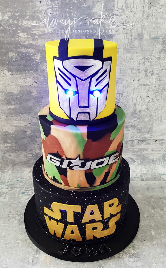 Star Wars/GI Joe/Transformers Cake