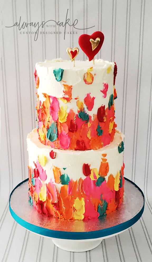 Ganache Spatula Painted Cake