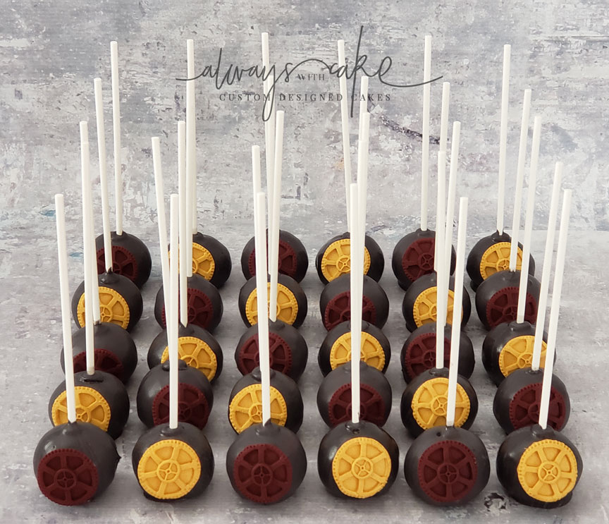 ASU Grad (Mech. Engineering) Gear Cake Pops