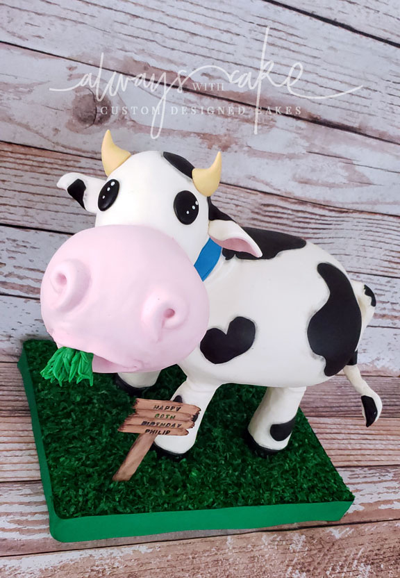 Close up of 3D Cow Cake