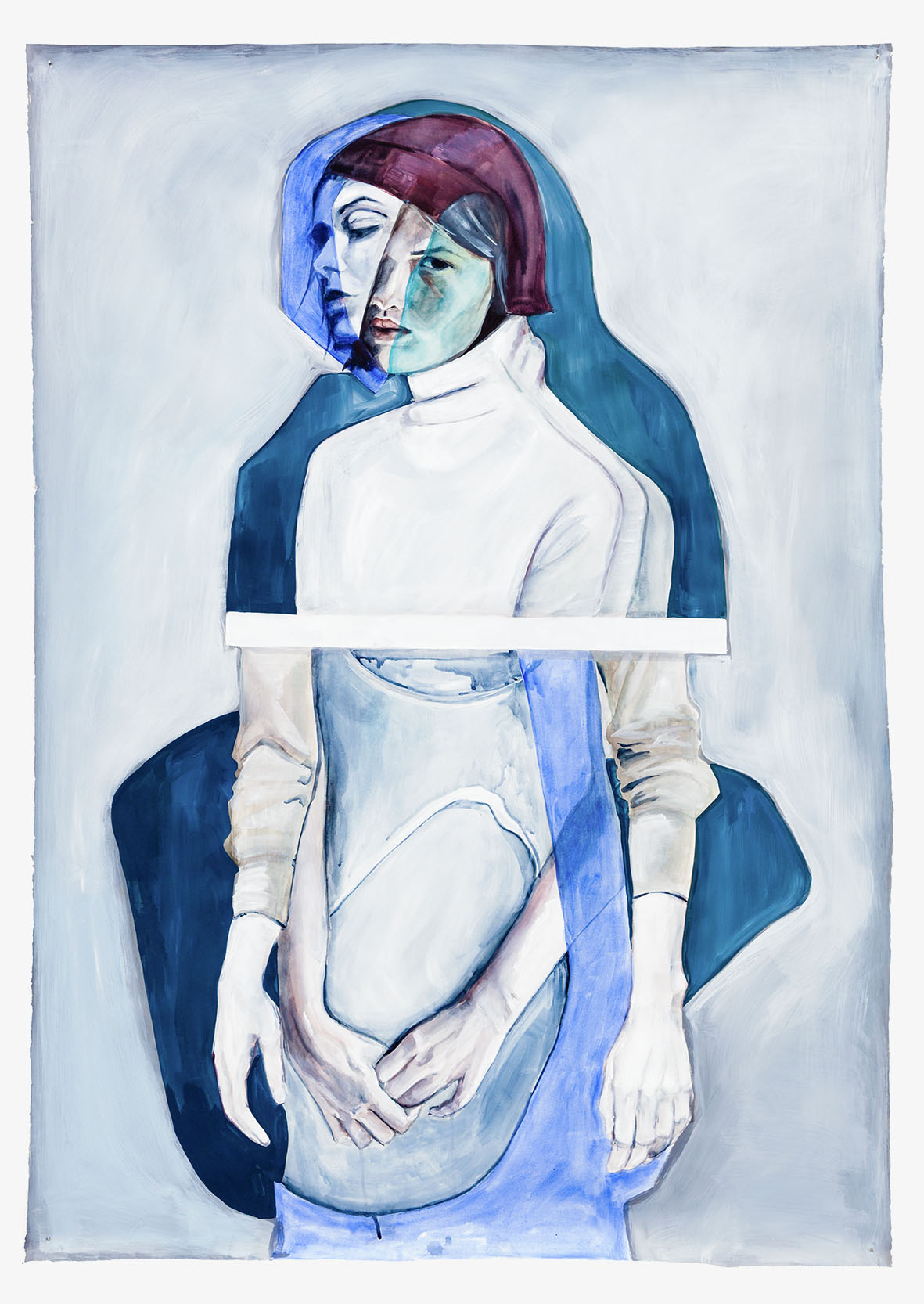 cntrl  2015, Watercolour, Gouache and Acrylic on paper, 160 x 113 cm  SOLD