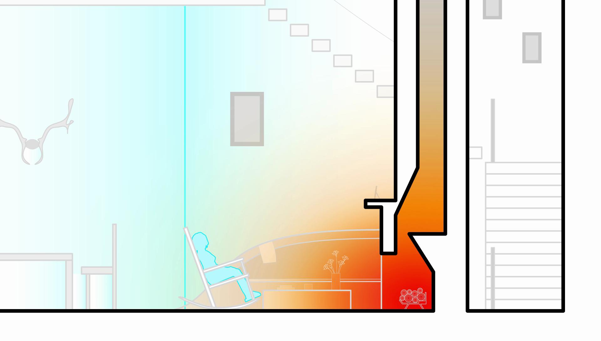 Vignette of snow dwelling