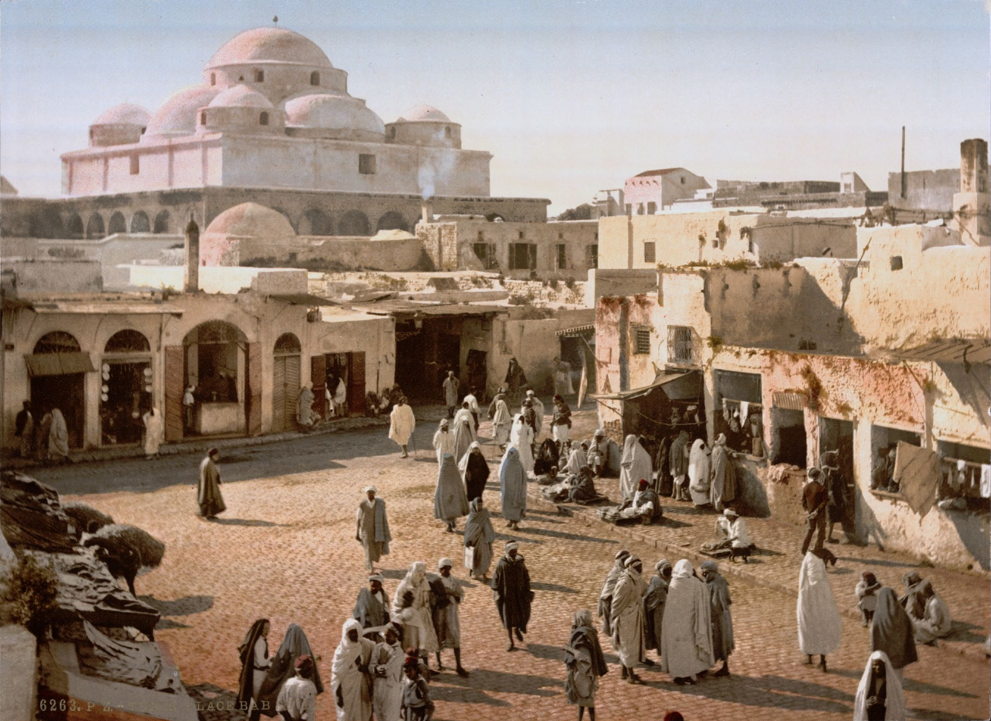 "Figure 2: ""Bab Souika in Tunis (Tunisia, 1899).""  Library of Congress , Washington, D.C., 1890, http://hdl.loc.gov/loc.pnp/ppmsc.06028."