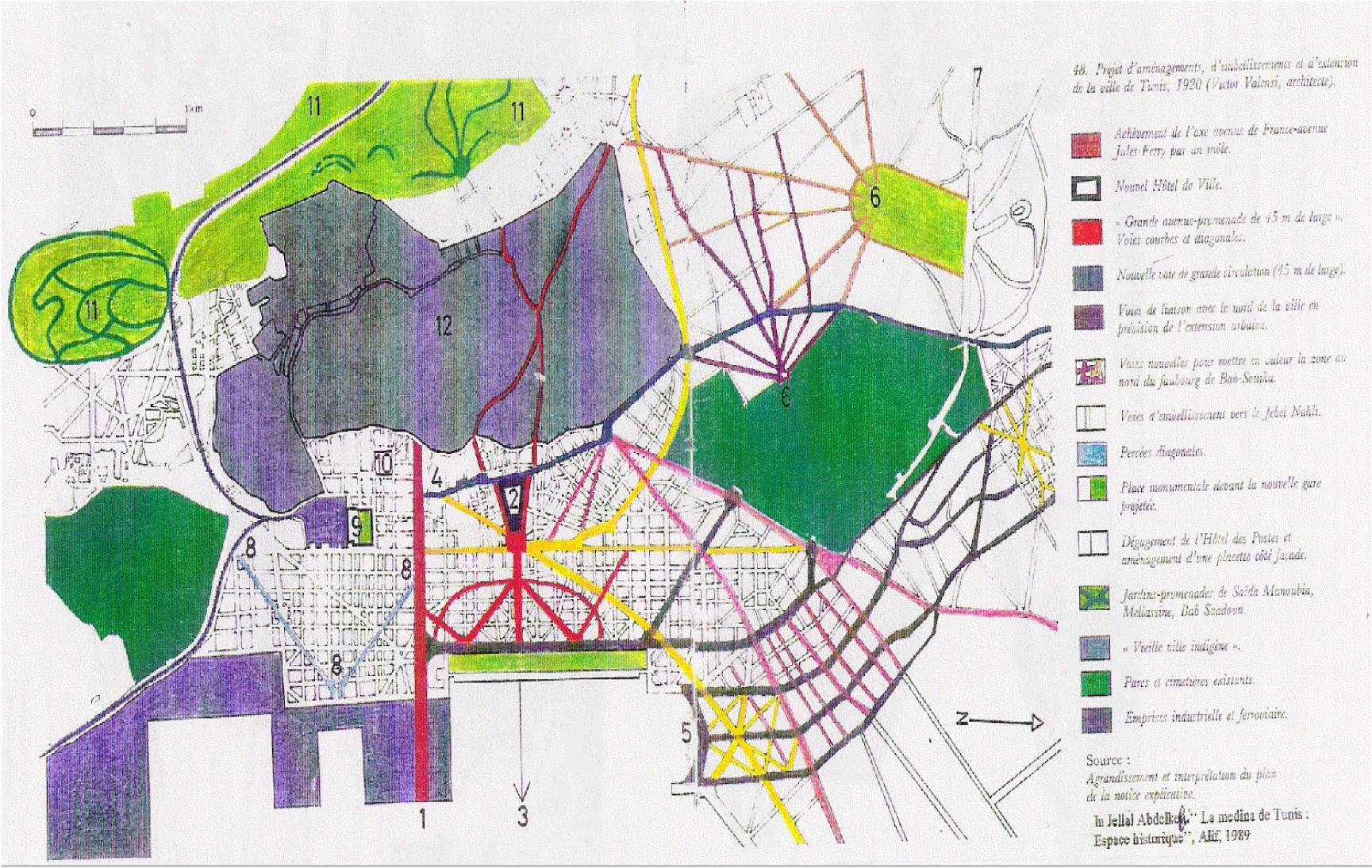 """Figure 3: Oueslati-Hammami, Imen. """"Les Centralités Du Grand Tunis : Acteurs, Représentations Et Pratiques Urbaines.""""  Université Toulouse le Mirail , HAL, 2010. 129"""