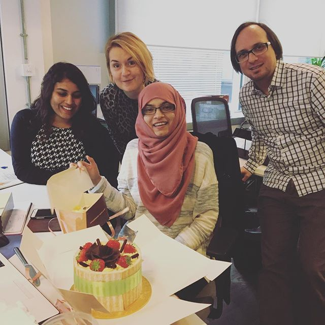 Happy Birthday Habiba! Delicious cake for a fantastic Intern with a bright future :)