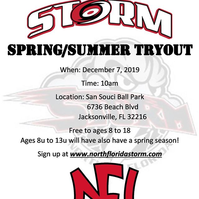 Sign up at www.northfloridastorm.com