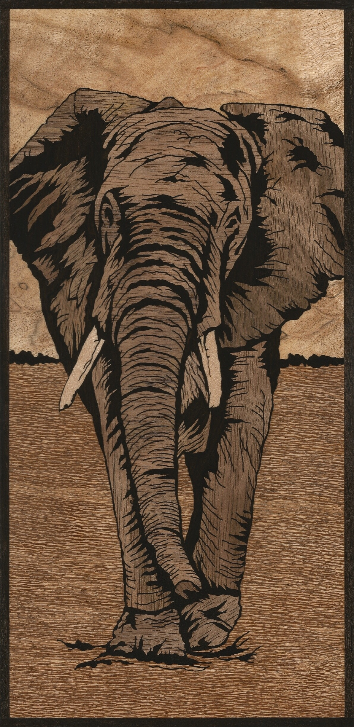 African Elephant Inlay