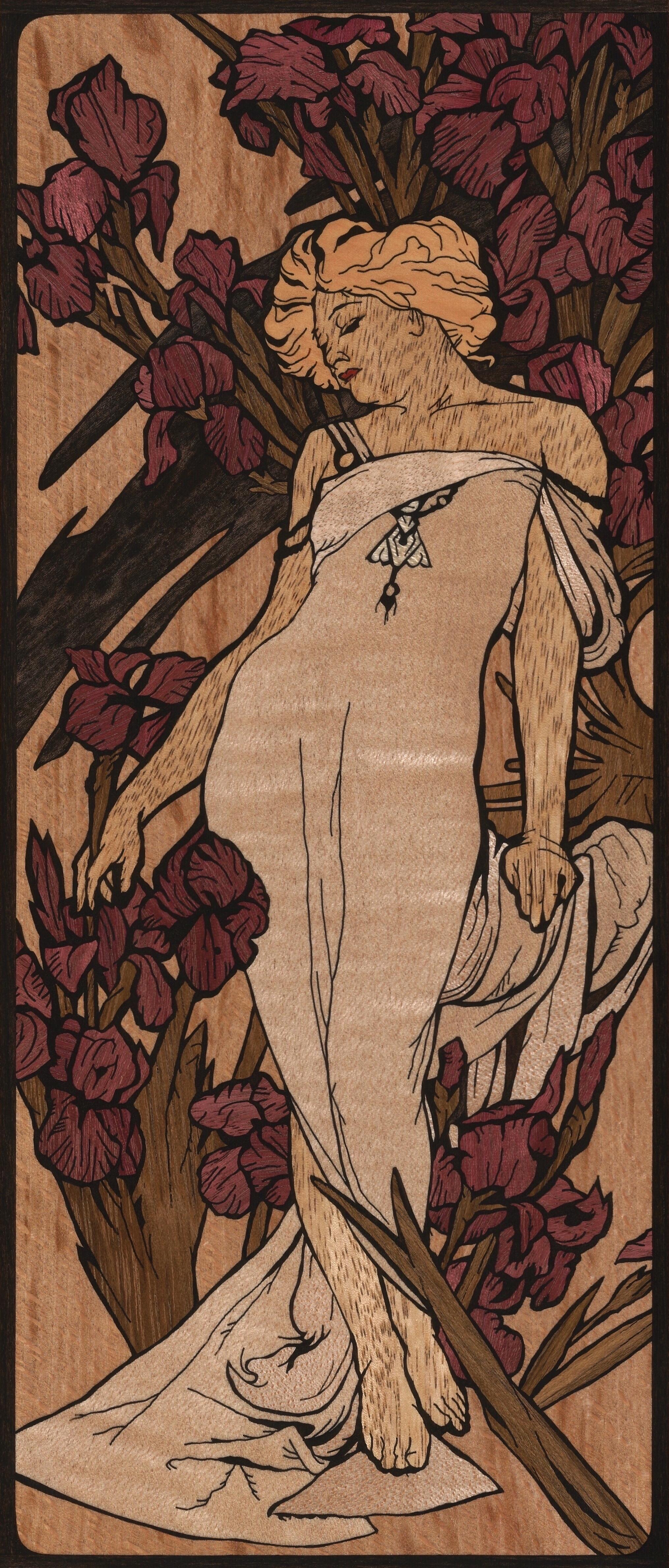 ALPHONSE MUCHA Les Fleurs - The Iris