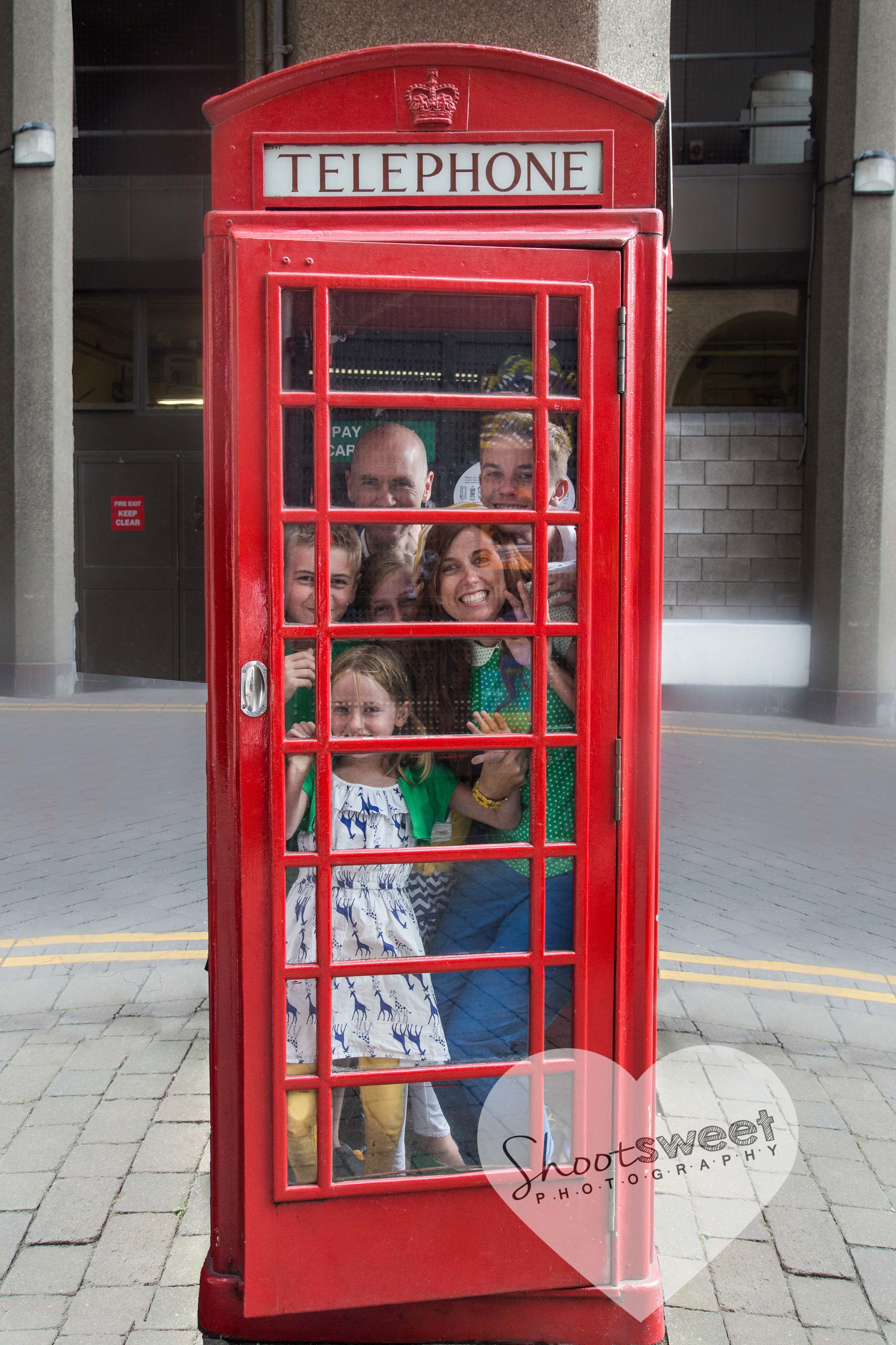 all six Dukes in a telephone box - fun!