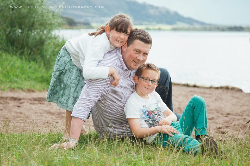 This beautiful picture of Steve with our two eldest was taken by Rachel Spence Photography