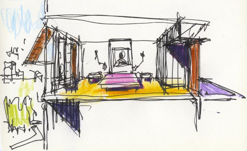 ACHA, Avari, Lahore, Hotel,Concept Sketch