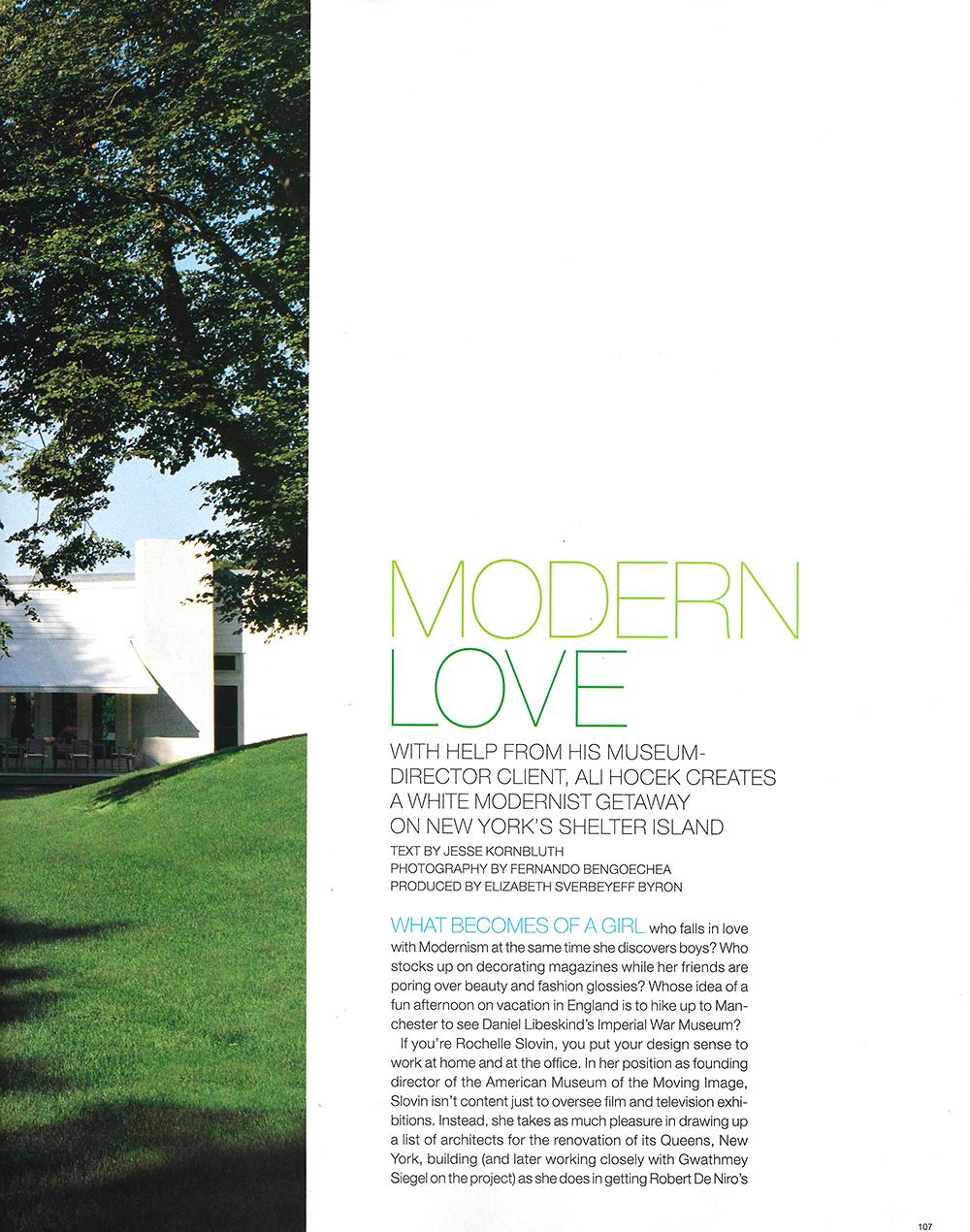 Ali Hocek, Elle Decor, Modern Love
