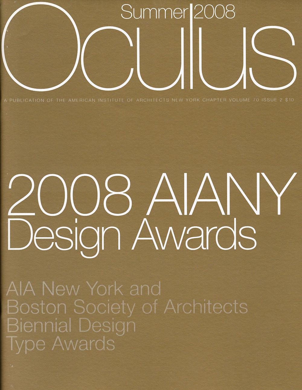 AIANY, 2008 Design Awards, Ali Hocek, Oculus