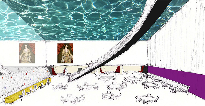 ACHA, Ali Hocek, Mott Street, Hotel, Pool, Glass Ceiling