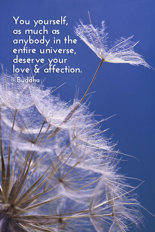 """You yourself, as much as anybody in the entire universe deserve your love & affection."" - Buddha"